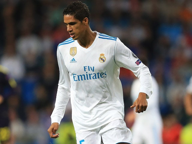 Raphael Varane in action for Real Madrid on October 17, 2017