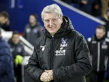 Crystal Palace manager Roy Hodgson tries to tempt you to the dark side during his side's Premier League clash with Brighton & Hove Albion at the Amex Stadium on November 28, 2017