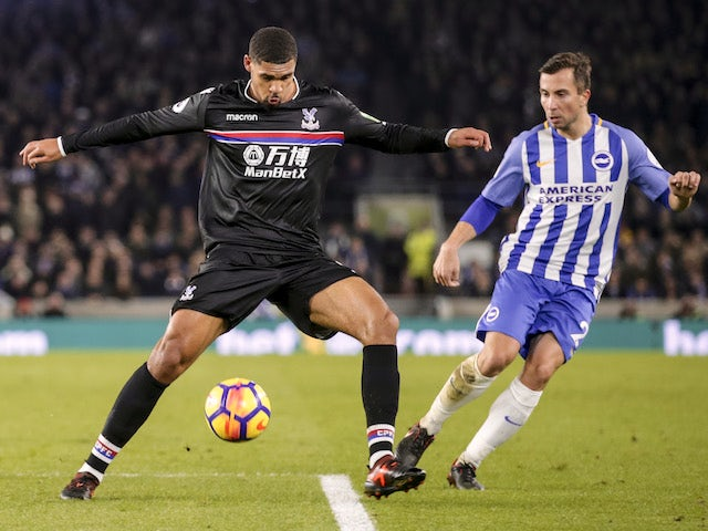Crystal Palace midfielder Ruben Loftus-Cheek in action during his side's Premier League clash with Brighton & Hove Albion at the Amex Stadium on November 28, 2017