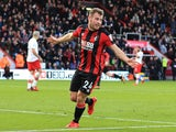 Ryan Fraser celebrates opening the scoring during the Premier League game between Bournemouth and Southampton on December 3, 2017