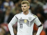 Timo Werner in action for Germany against England on November 10, 2017