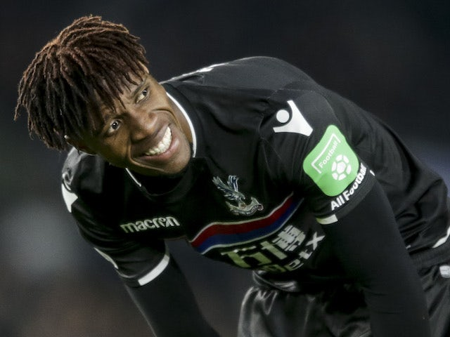 Zaha ruled out for a month through injury