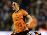 Diogo Jota in action during the Championship game between Wolverhampton Wanderers and Sunderland on December 9, 2017