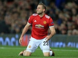 Manchester United's Luke Shaw during the Champions League match against CSKA Moscow on December 5, 2017