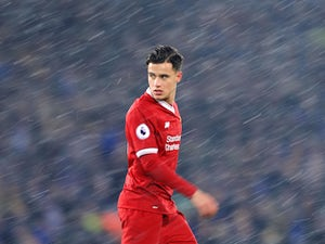 A sultry Philippe Coutinho during the Premier League game between Liverpool and Everton on December 10, 2017