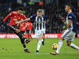 Jesse Lingard scores the second during the Premier League game between West Bromwich Albion and Manchester United on December 17, 2017