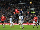 Romelu Lukaku scores the opener during the Premier League game between West Bromwich Albion and Manchester United on December 17, 2017