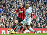Dan Gosling of Bournemouth during the Premier League match against Manchester City on December 23, 2017