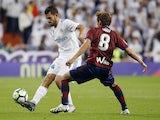 Real Madrid midfielder Dani Ceballos in action during his side's La Liga clash with Eibar in October 2017