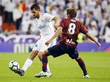 Real Madrid midfielder Dani Ceballos in action during his side's La Liga clash with Eibar in October 2017