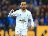 Leon Britton in action for Swansea City in April 2016
