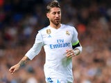 Real Madrid captain Sergio Ramos in action during his side's Champions League clash with Tottenham Hotspur