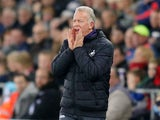 Swansea City caretaker manager Alan Curtis watches on during his side's Premier League clash with Bournemouth at the Liberty Stadium on December 31, 2016