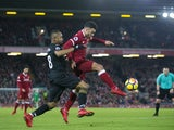 Alex Oxlade-Chamberlain en route to score during the Premier League game between Liverpool and Swansea City on December 26, 2017