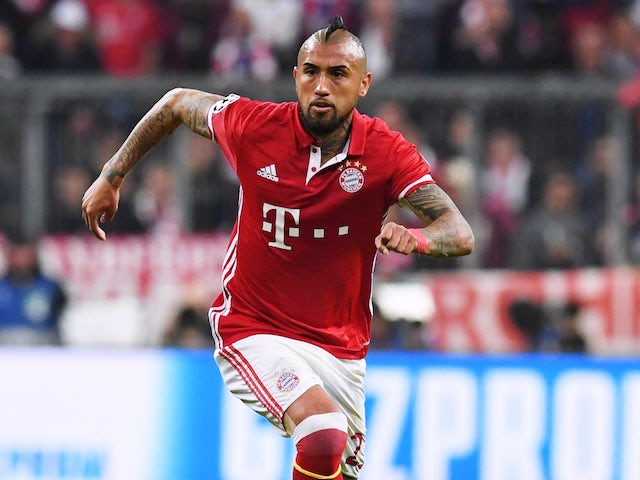 Arturo Vidal in action for Bayern Munich in April 2017