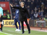 Southampton manager Claude Puel watches on during the Premier League clash with West Bromwich Albion at St Mary's on December 31, 2016