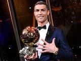 Cristiano Ronaldo with the Ballon d'Or on December 7, 2017