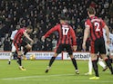 Dan Gosling equalises during the Premier League game between Bournemouth and West Ham United on December 26, 2017