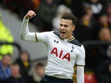 Tottenham Hotspur midfielder Dele Alli in action during the Premier League clash with Watford at Vicarage Road on January 1, 2017