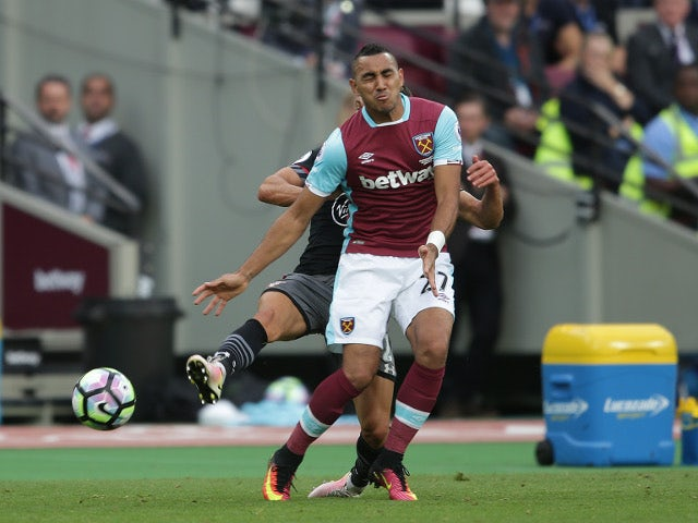 Dimitri Payet of West Ham United during the Premier League match against Southampton on September 25,  2016