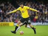 Watford midfielder Etienne Capoue in action during the Premier League clash with Tottenham Hotspur at Vicarage Road on January 1, 2017