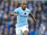 Fabian Delph in action for Manchester City on November 5, 2017