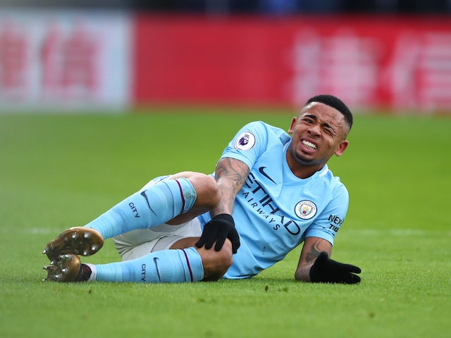 Man City says Gabriel Jesus sustained medial ligament damage