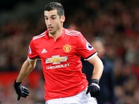 Henrikh Mkhitaryan in action during the Premier League game between Manchester United and Southampton on December 30, 2017