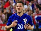 Marko Pjaca in action for Croatia in June 2016