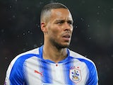Mathias Jorgensen in action for Huddersfield Town on December 12, 2017