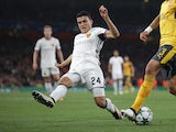 Mohamed Elyounoussi of Basel during the Champions League match against Arsenal on September 28, 2016