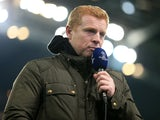 Neil Lennon doing punditry work in March 2016
