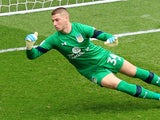 Sam Johnstone in action for Aston Villa in April 2017