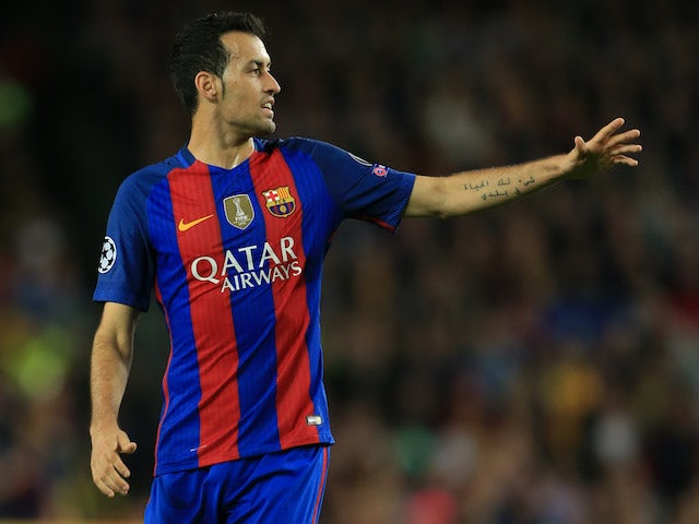 Busquets facing three weeks on sidelines