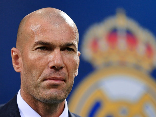 Real Madrid manager Zinedine Zidane at the Champions League final against Atletico Madrid on May 28,.2016