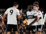 Aboubakar Kamara argues with Fulham teammate Aleksandar Mitrovic on December 29, 2018