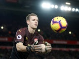 Bernd Leno in action for Arsenal against Liverpool on December 29, 2018