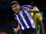 Fernando Forestieri in action for Sheffield Wednesday on October 3, 2018