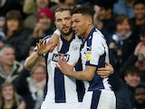 Jay Rodriguez celebrates scoring for West Brom on December 26, 2018