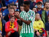 Junior Firpo in action for Real Betis on November 11, 2018
