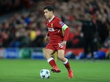 Philippe Coutinho pictured in action for Liverpool on December 6, 2017