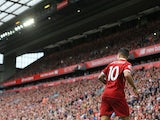 Liverpool's Philippe Coutinho pictured in front of the Anfield faithful on October 14, 2017