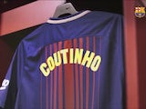 Philippe Coutinho's Barcelona shirt pictured on January 6, 2018