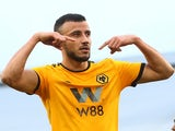 Romain Saiss celebrates scoring for Wolves on December 26, 2018