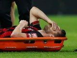 Simon Francis goes off injured for Bournemouth on December 26, 2018