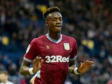 Tammy Abraham celebrates scoring for Aston Villa on December 29, 2018