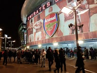 General view outside The Emirates ahead of the Premier League game between Arsenal and Chelsea on January 3, 2018