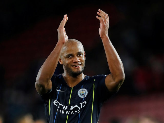 Vincent Kompany in action for Manchester City on December 30, 2018