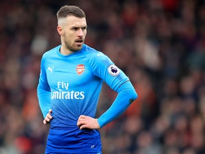 Aaron Ramsey models his new haircut during the Premier League game between Bournemouth and Arsenal on January 14, 2018