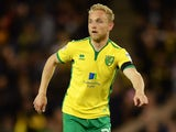 Alex Pritchard in action for Norwich City in April 2017